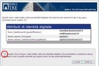 alert su identità digitale